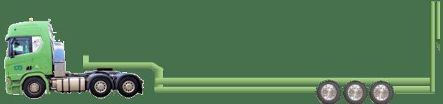 3-Achs-Tieflader-Rampe