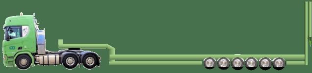6-Achs-Tieflader-Rampe